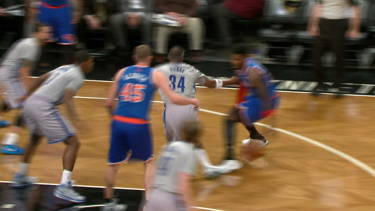 Iman Shumpert Breaks Paul Pierce' Ankles
