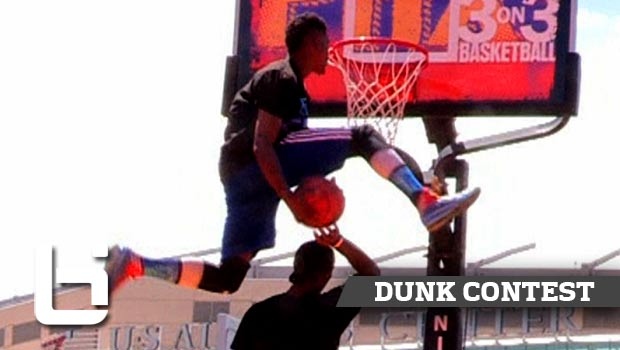 BEST Dunk Contest of 2014 | 5'10 Sir Isaac KILLS Reverse Eastbay Over Gorilla at Phoenix 3 on 3