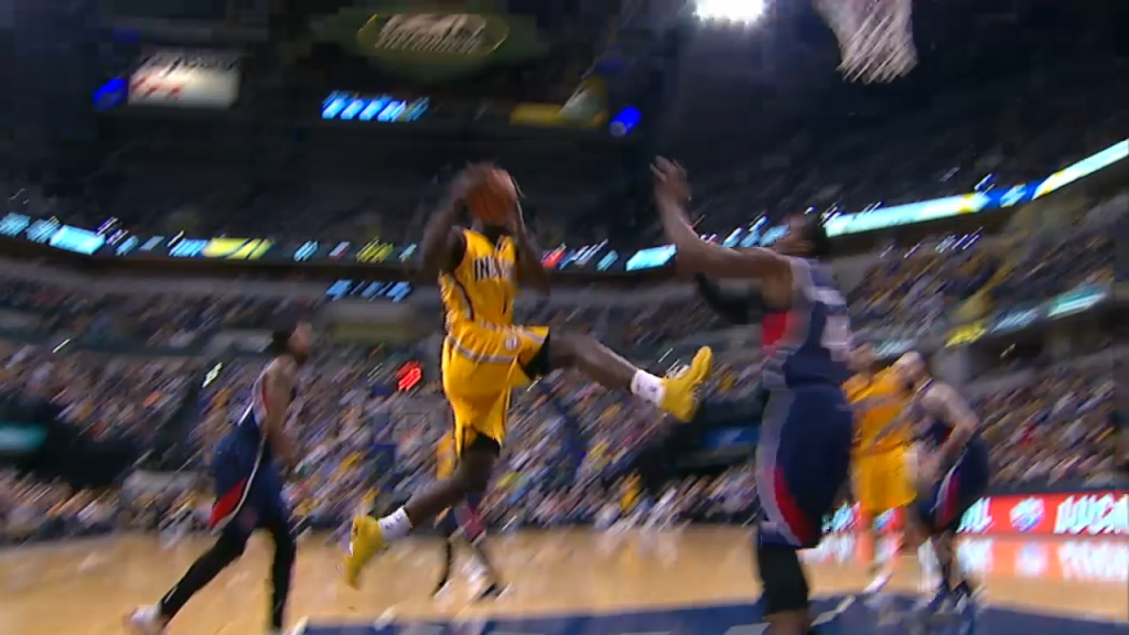 Lance Stephenson Kicks Paul Milsap in the Groin