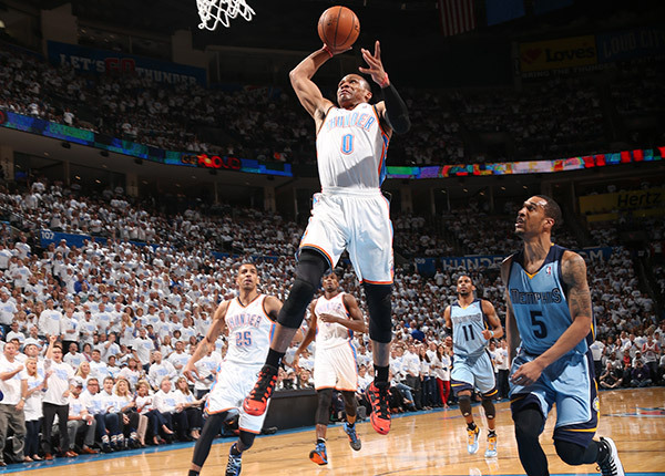 Russell Westbrook Steals & Slams to force OT in Game 5