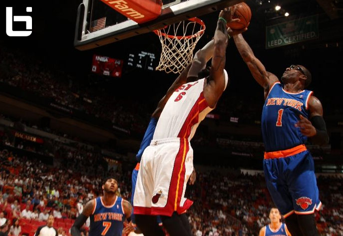 Amar'e Stoudemire rejects LeBron James shot