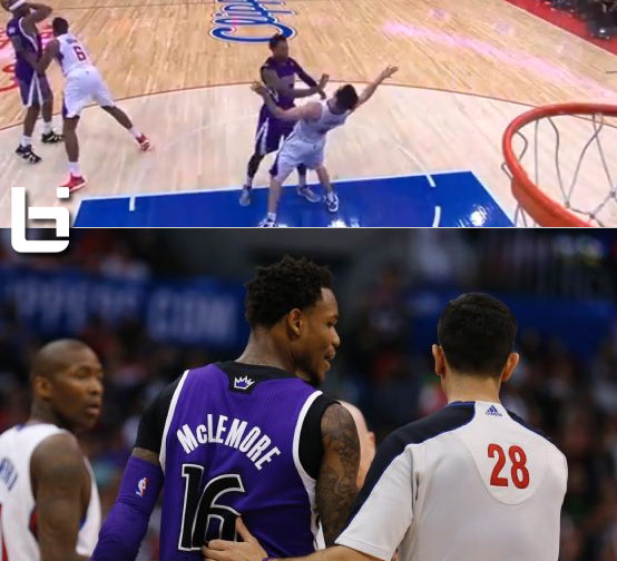 Ben McLemore ejected after shoving JJ Redick