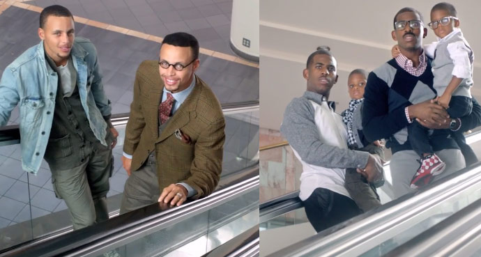 Stephen Curry & his twin cross paths with Chris & Cliff Paul in new State Farm ad