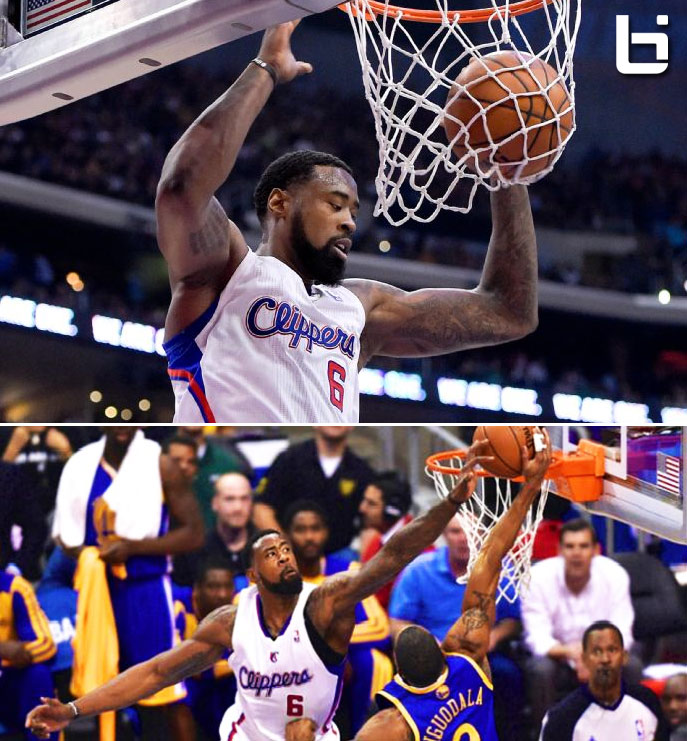 DeAndre Jordan with 25 points, 18 rebounds and 1 free throw off the glass