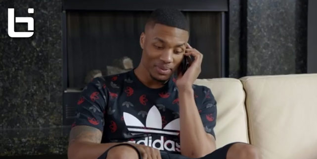 Damian Lillard (& his $100+ million Adidas contract?) offends ringless Barry Sanders, Chris Webber & Karl Malone | Footlocker Ad