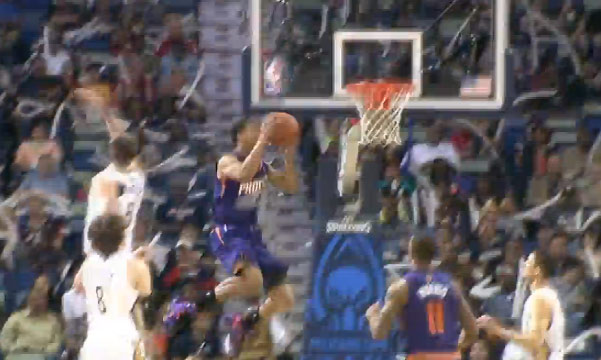 Gerald Green baseline double pump dunk vs Pelicans