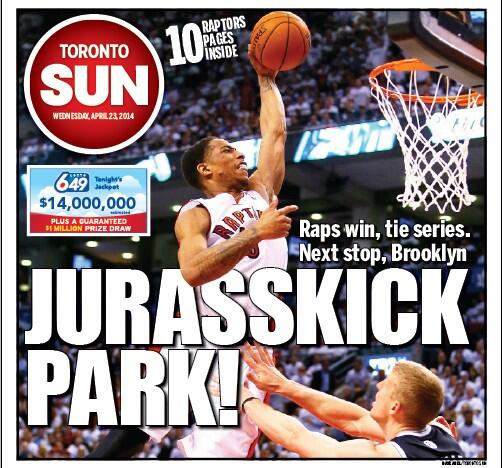 """Jurasskick Park"" – Toronto Sun quotes Shaq's rap lyrics in latest headline"