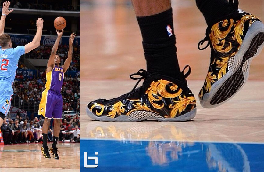 0a5035849ce Nick Young scores 18 wearing the Black Supreme Foamposites vs Clippers