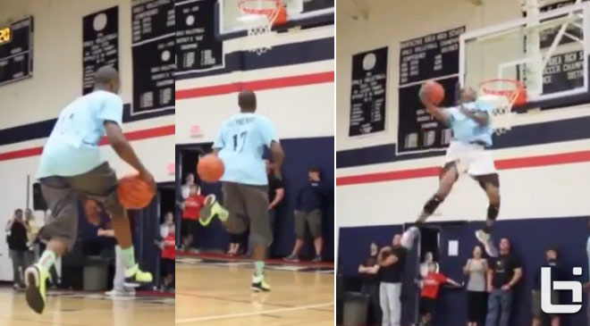 Vine: Is this the best off the glass alley-oop pass ever?