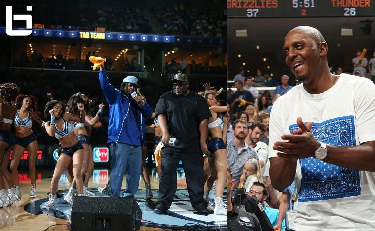 Is it 1993? Penny Hardaway and Tag Team show up to the Thunder game