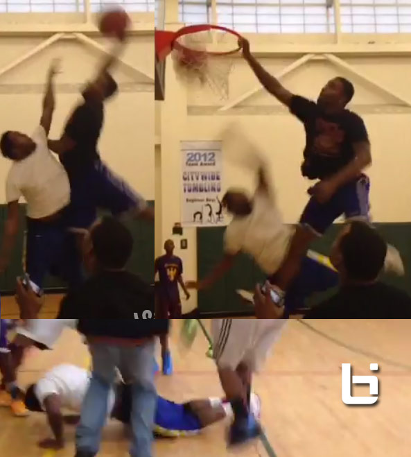 Dunk of the Day: Please help the defender off the floor