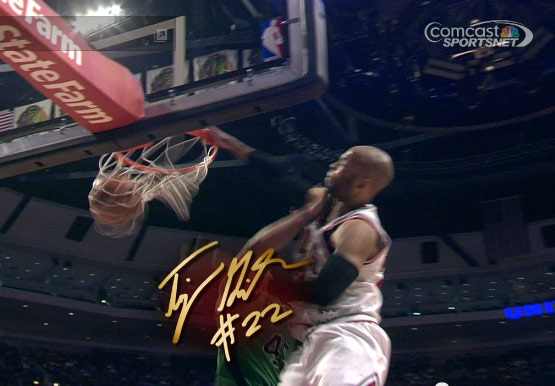 Taj Gibson dunks on Kris Humphries less than 24 hours after the last time he got dunked on