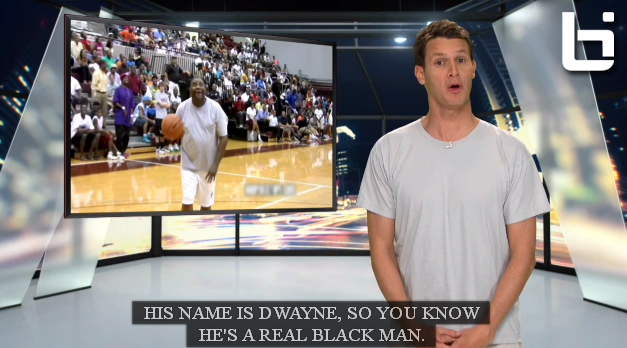 """Tosh.0 """"gives a black man who missed 8 straight shots"""" a shot at redemption"""