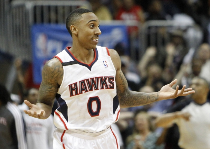 Jeff Teague does his best Jordan impersonation after a crazy 3 vs the Pacers