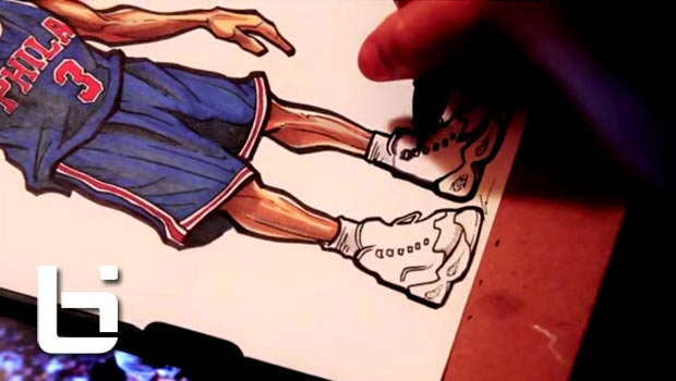 Sick Art of The Day: Allen Iverson and the Reebok Question [Video]