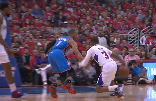 Chris Paul crosses Westbrook then throws a lob to DeAndre ...