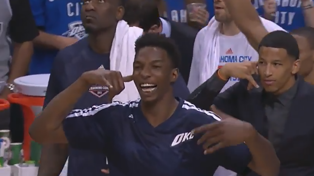 Hasheem Thabeet Answers Caron Butler's Phone Call After a 3-Pointer in Game 3 vs Spurs