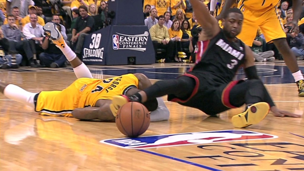 Paul George Blacked Out after Colliding With Dwyane Wade