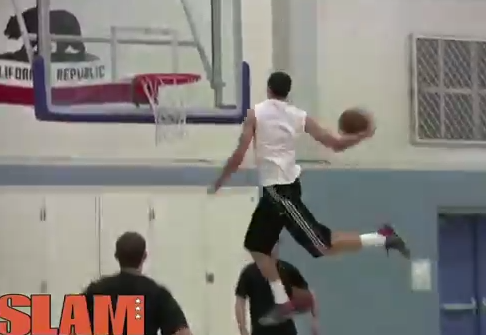 Zach LaVine throws down 4 ridiculous dunks with ease at NBA Draft Workout (head level windmill)