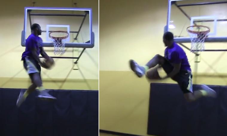 Dunk Week Days 1 & 2:  NCAA dunk champ Doug Anderson & a 360 between the legs dunk-off