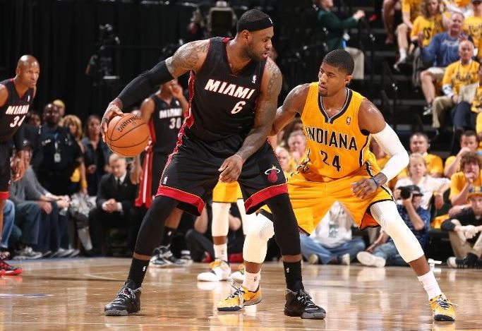 2c09372ec0717 Lebron James Switches His Shoes During Game 2 - Ballislife.com