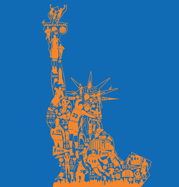Art Of The Day New York Knicks Statue Of Liberty Ballislife Com