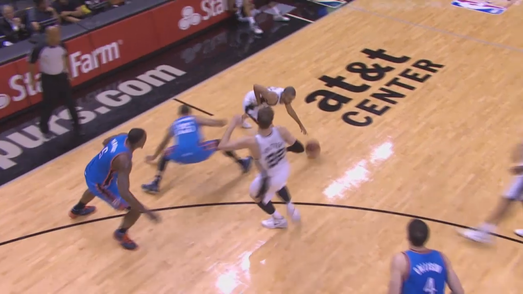 Tony Parker Breaks Thabo Sefolosha Ankles in Game 1