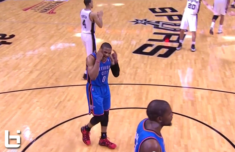 """Westbrook yells at Durant to """"Wake Up!"""" during GM2"""