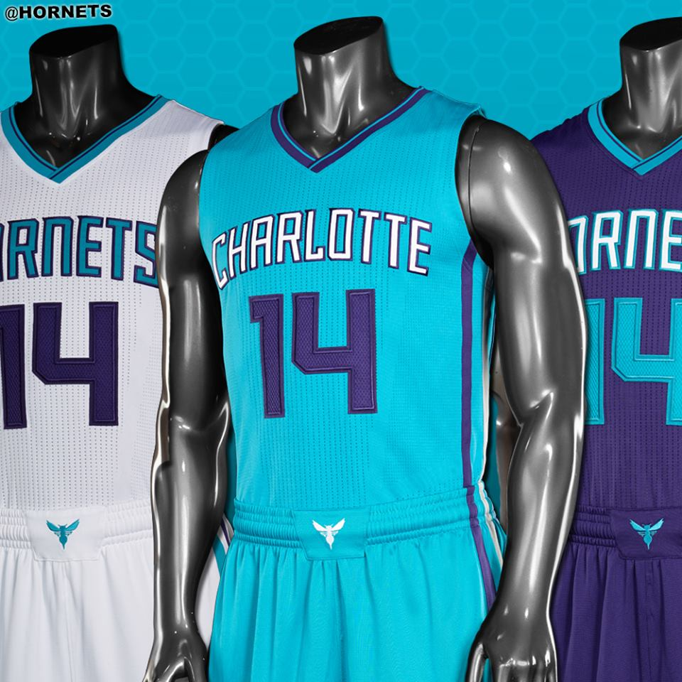the latest f6c87 405eb Charlotte Hornets unveil new 2014/15 jerseys | 1988 ...