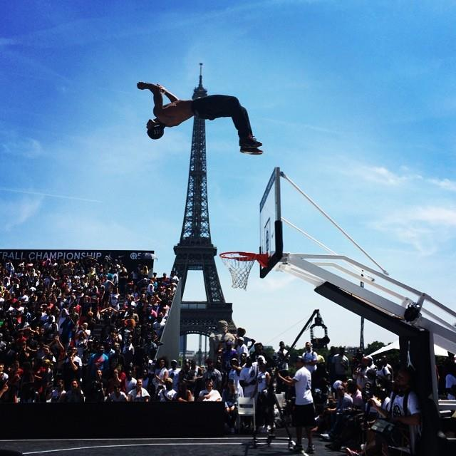 Now this is a Dunk Contest! Melo & Pippen impressed at Quai54 | Lipek Wins