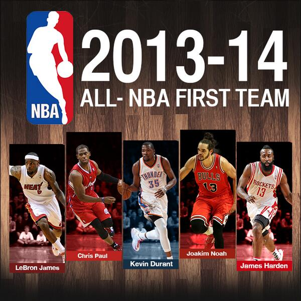2013/14 All-NBA Teams Announced