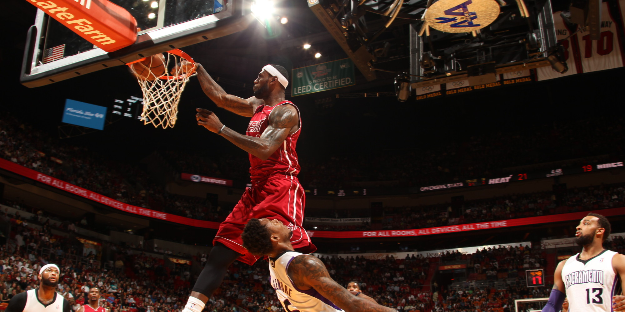 LeBron James Slam Dunk  Bing images