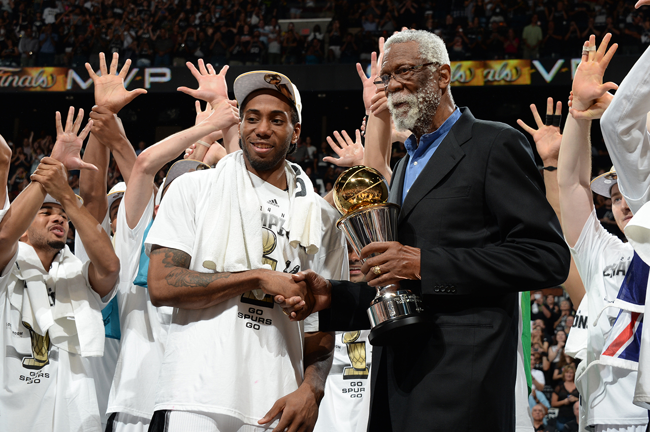 Kawhi Leonard and Bill Russell