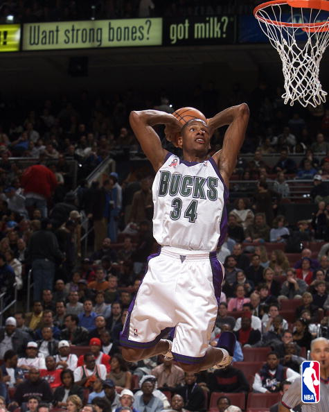 Ray Allen attempts a dunk