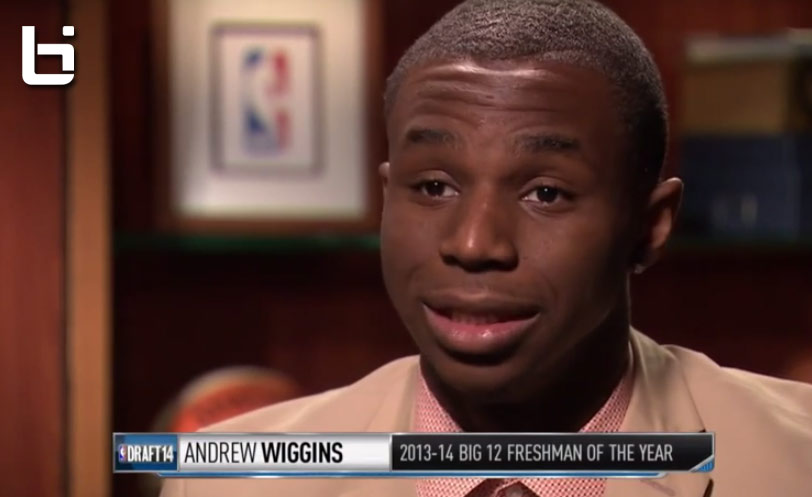 Andrew Wiggins Interview with Steve Smith about college, parents & idols (Vince Carter)