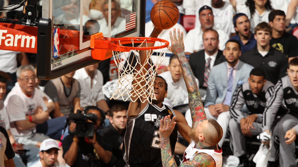 "Kawhi Leonard Dunks Over Chris ""Birdman"" Andersen"