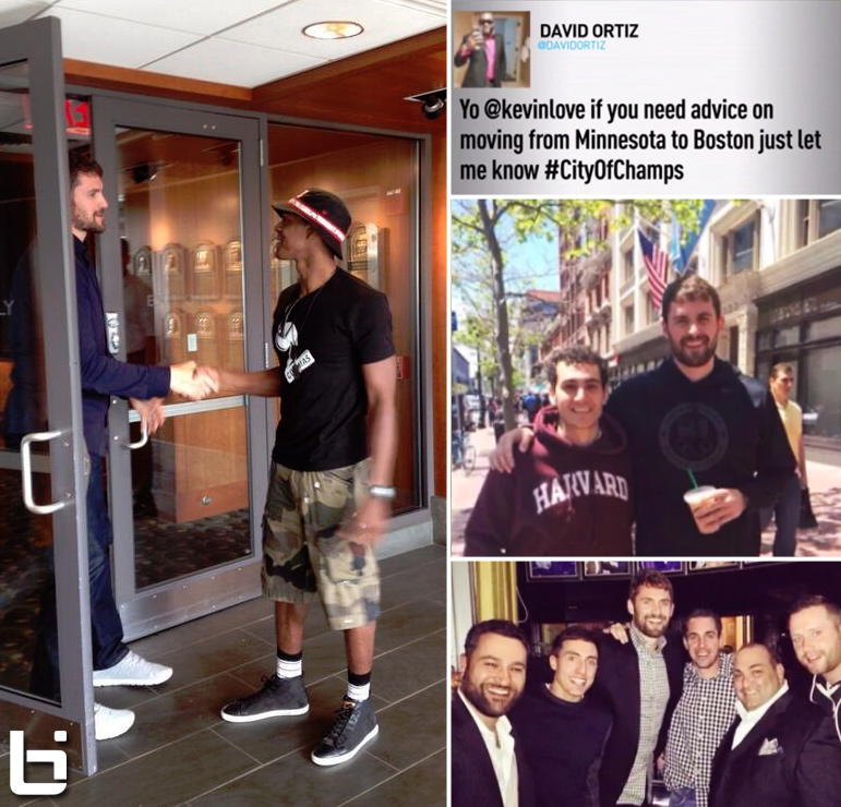 Kevin Love visits Boston & hangs with Rondo