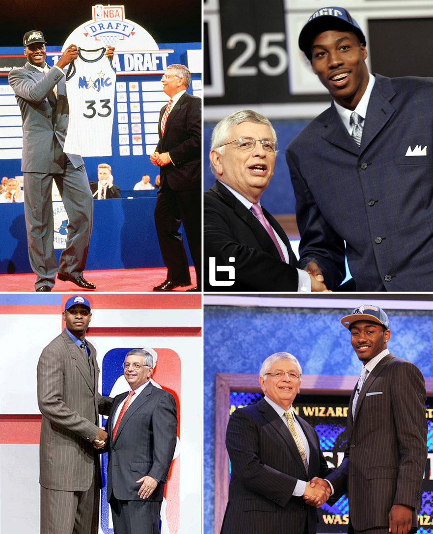 On this day in history, Shaq, Dwight, Wall & one big LA bust were drafted with the #1 pick
