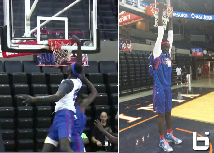 7'5 Tacko Fall posterizes defender with a put-back dunk