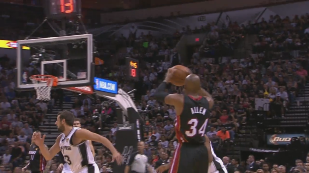 Ray Allen Owns Belinelli & Diaw with Ridiculous Ball Fake
