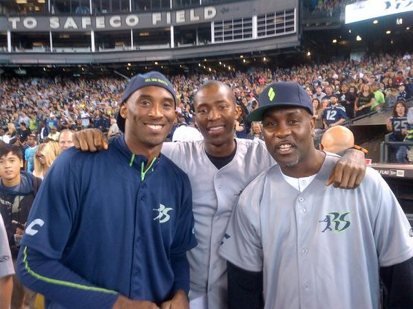 Kobe Bryant Visits Seattle | Richard Sherman Softball game & Pro-Am Basketball