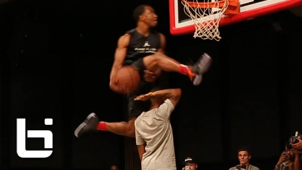 Haneef Munir Jumps Over Shad Moss (Bow Wow) Standing On Chair!