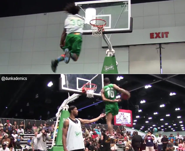 Crazy dunks at the BET Awards / Sprite Dunk contest