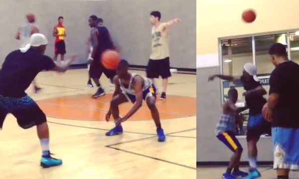 Streetball Comedy: Bone Collector confuses defender with a sick combination of moves