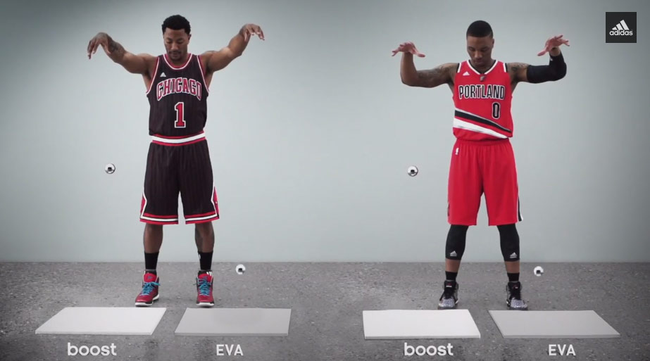 "621800078796 New Adidas commercial ""BOOST"" with Derrick Rose and Damian Lillard ..."