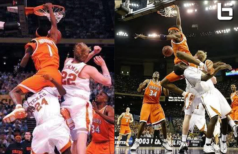 "Remembering Hakim Warrick's ""Texas Tea Bag"" Dunk on Royal Ivey & ""The Block"" on Lee"
