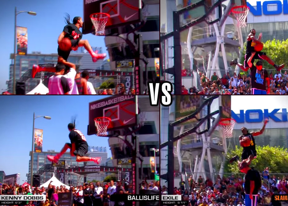 Flashback: Kenny Dobbs vs 5'11 Exile in the best dunk contest of 2011 (NIKE 3ON3)