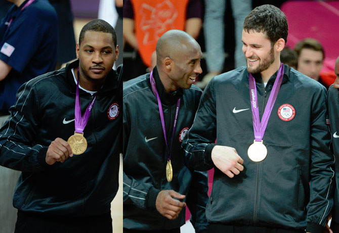 Was Kevin Love playing pick-up ball with Kobe & Melo yesterday at UCLA?