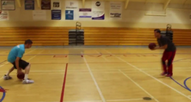 Watching The Professor's dribbling workout might make you dizzy
