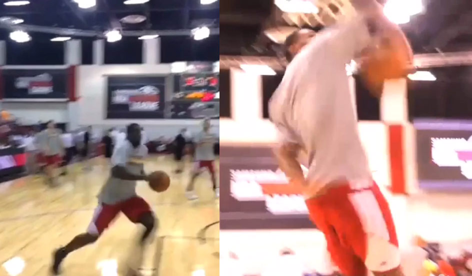 Andrew Wiggins & Anthony Bennett had a 360 dunk-off during warm-ups at a Summer League Game